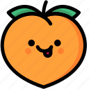 emoji, emotion, expression, face, feeling, naughty, peach icon