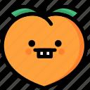 emoji, emotion, expression, face, feeling, nerd, peach icon
