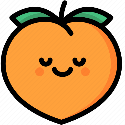 emoji, emotion, expression, face, feeling, peace, peach icon