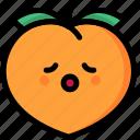 emoji, emotion, expression, face, feeling, peach, relax icon