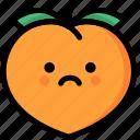 emoji, emotion, expression, face, feeling, peach, sad icon