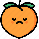 emoji, emotion, expression, face, feeling, peach, sad icon