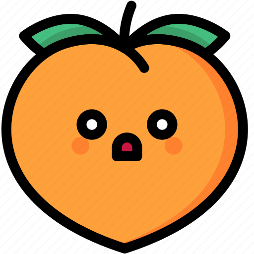 emoji, emotion, expression, face, feeling, peach, shocked icon