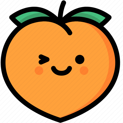 Emoji, emotion, expression, face, feeling, peach, smile icon - Download on Iconfinder