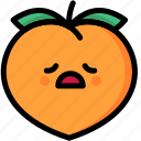 emoji, emotion, expression, face, feeling, peach, tried icon