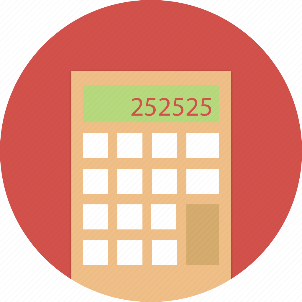 accounting, calc, calculator, education, math, school icon