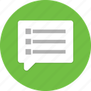 chat, friends, letter, messages, people, speech, talk icon