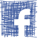 facebook, media, pen, sketch, social icon