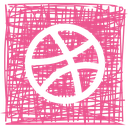 dribbble, media, pen, sketch, social icon