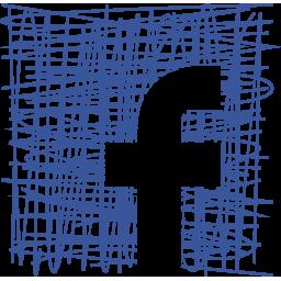 facebook, media, pen, sketch, social icon