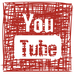 media, pen, sketch, social, youtube icon