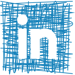 linkedin, media, pen, sketch, social icon