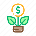 business, concept, finance, investment, money, plant, tree icon