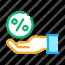 business, concept, discount, hand, percentage, sale