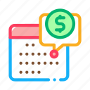 business, calendar, coin, finance, money icon