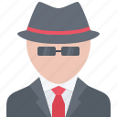 detective, hairstyle, hat, man, people, style, suit icon