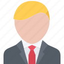 businessman, hairstyle, male, man, people, style, suit icon