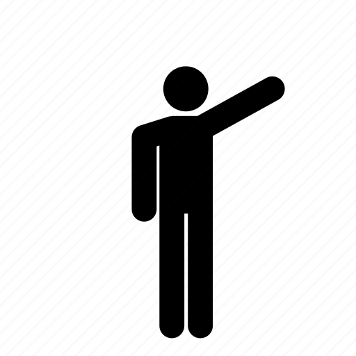 arm out, arm raised, human, man, person, point, pointing icon