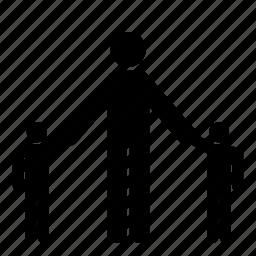 child, children, father, parent, people, person, single icon
