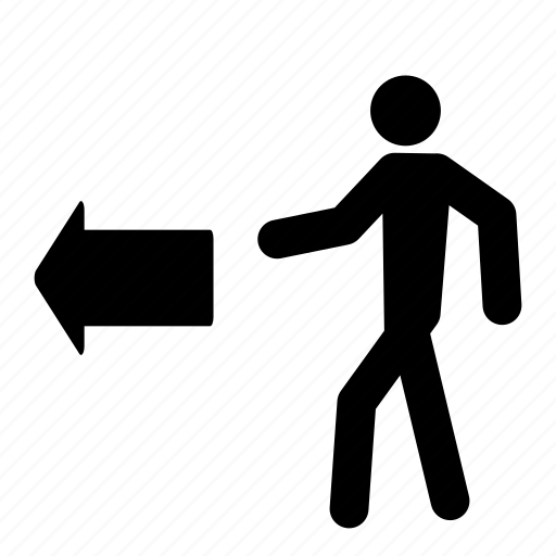 arrow, exit, leave, move, people, person, walk icon