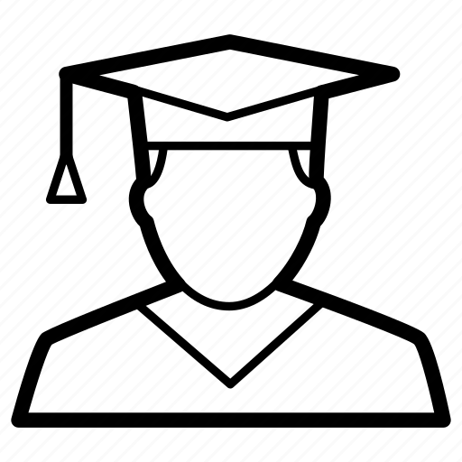 avatar, graduate, male, scholar, student icon