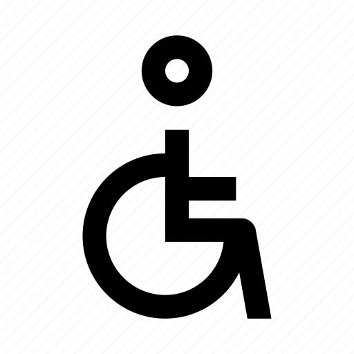 disabled, human, people, wheelchair icon