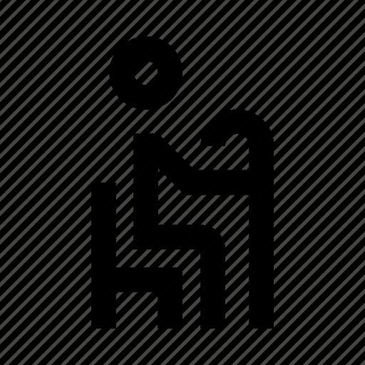 bus, human, man, old, people, sitting icon