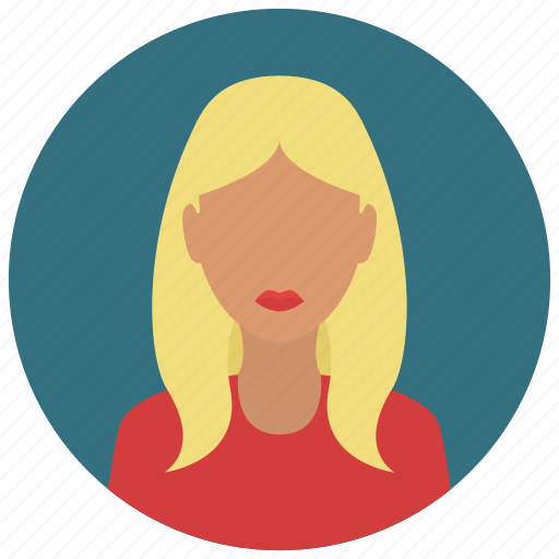 avatar, blond, people, user, woman icon