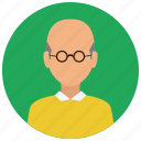 avatar, elderly, man, people, user icon