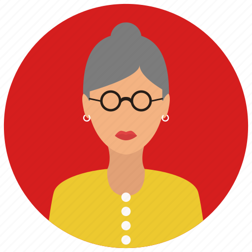 avatar, elderly, people, user, woman icon