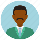 avatar, formal, man, mustache, people, user icon