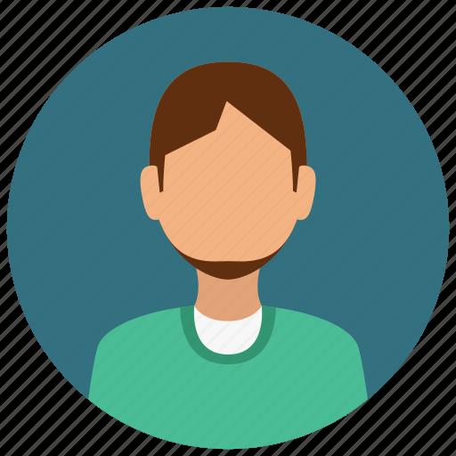 avatar, beard, half, man, people, user icon