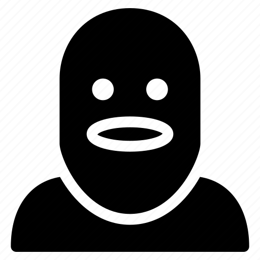 creative, crime, criminal, grid, head, human, mask, movie, people, robbery, shape, thief icon