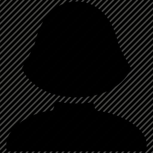 account, avatar, creative, female, grid, human, lady, people, profile, shape, user, woman icon