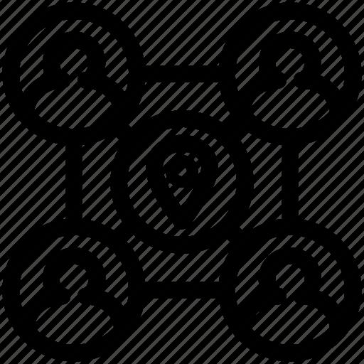 group, location, team, teamwork icon
