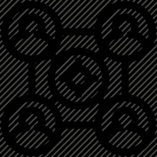 company, group, team, teamwork icon