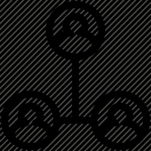 hierarchy, people, tree icon