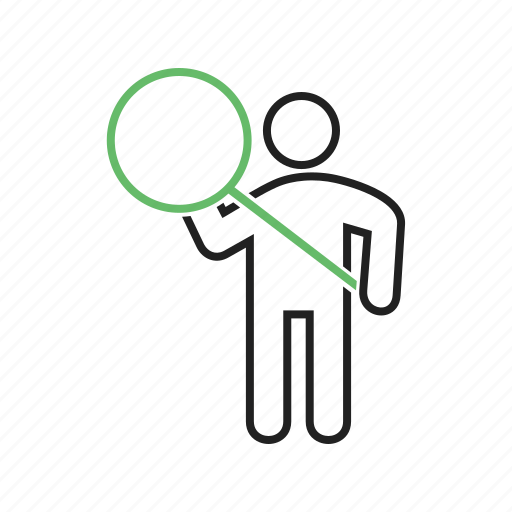 analyzing, discovery, glass, magnifying, research, search, searching icon