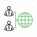 communication, connected, connection, global, globally, network, system, user icon