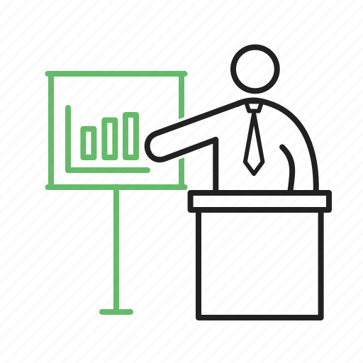 business, businessman, executive, presentation, presenting, training icon