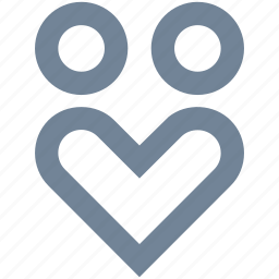couple, day, family, heart, line, love, man, people, valentine's, woman icon