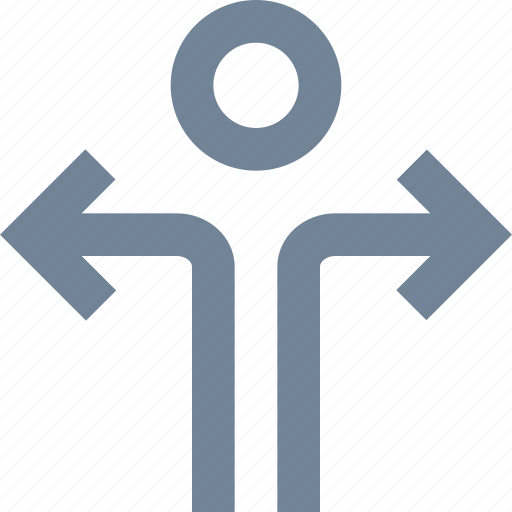 arrow, human, line, man, people, person, sign icon