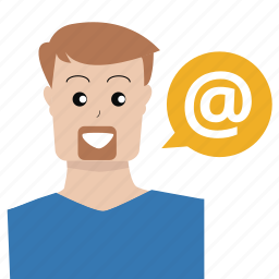 address, at, customer service, email, person, service, support icon