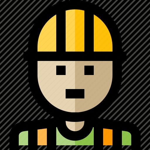 builder, engineer, man, worker icon