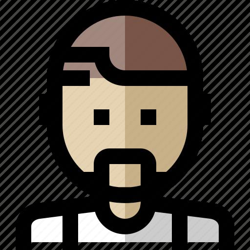 avatar, beard, male, man icon