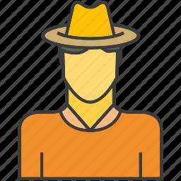 avatar, face, farmer, man, people, person, profile icon