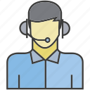 avatar, call center, face, operator, people, person, profile icon