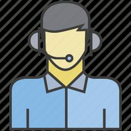 avatar, call center, face, operator, people, person, profile icon