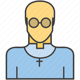 avatar, face, friar, people, person, priest, profile icon