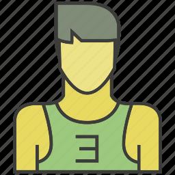 avatar, face, man, people, person, profile, sportman icon